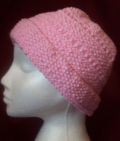 "<div style=""display: none;"">3940</div> hand knitted pink hat 1 size"