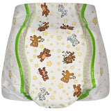"<div style=""display: none;"">5321 </div> ""Crinklz diaper."" teddy(small) print nighttime nappies (diapers)"