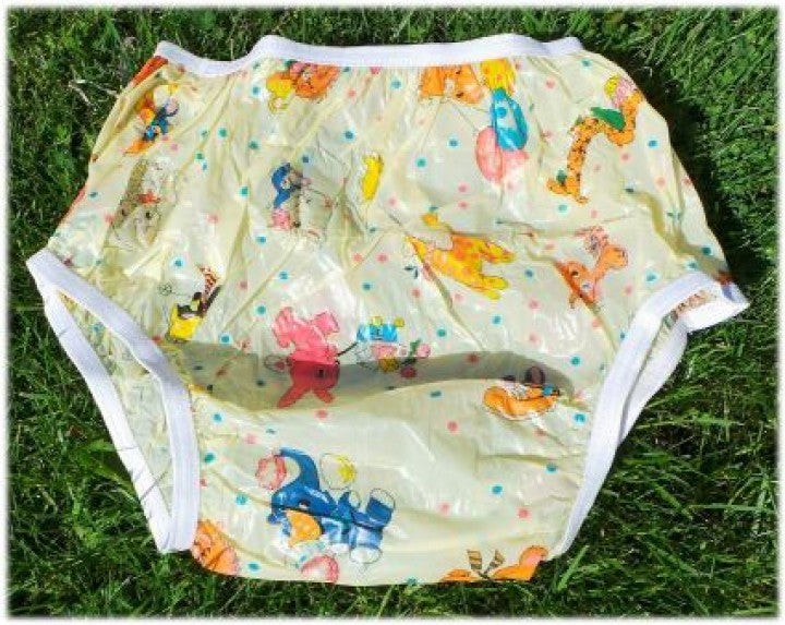 "<div style=""display: none;"">4598 Size</div>Yellow nursery plastic pants PVC"