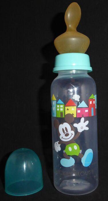 "<div style=""display: none;"">6697</div> blue micky mouse bottle with large teat (nipple)"