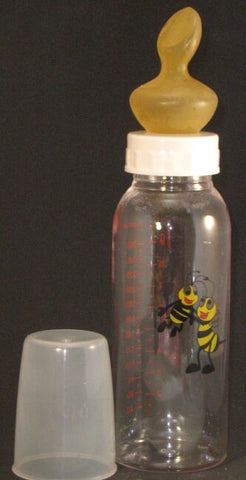 "<div style=""display: none;"">6250</div> Plain colour top & bumble bee, large size 10oz bottle with large nuk teat"