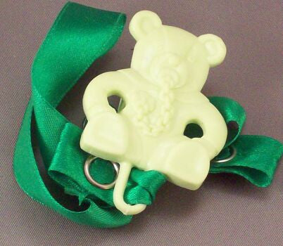 "<div style=""display: none;"">8348</div> Green Teddy with dummy / Green Ribbon Dummy Clip"