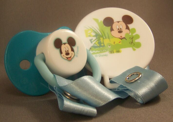 "<div style=""display: none;"">8588</div> micky mouse pacifier and clip"