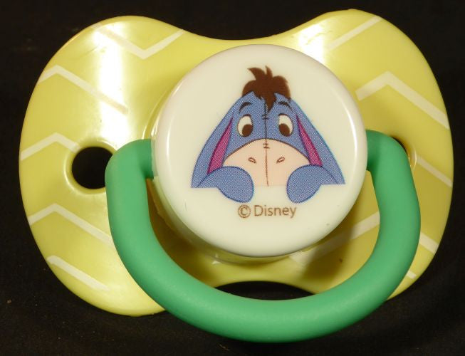 "<div style=""display: none;"">9072</div> Yellow dummy Pacifier DISNEY eeyore NUK teat"