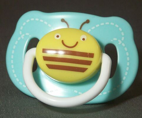 "<div style=""display: none;"">8676</div> Blue Bumble Bee pacifier"