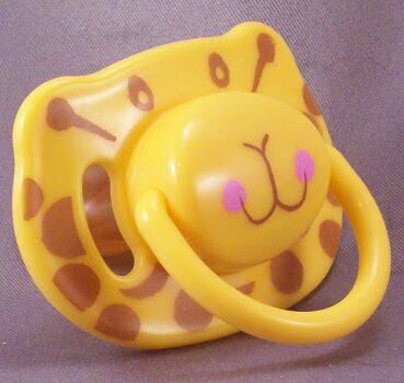 "<div style=""display: none;"">8690</div> Yellow Leopard Pacifier"