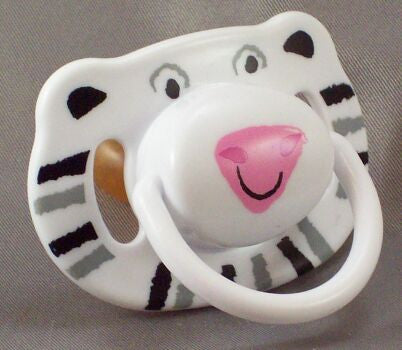 "<div style=""display: none;"">8688</div> White Tiger Pacifier"