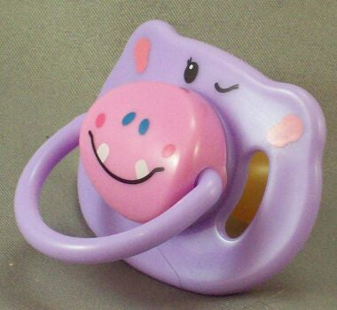 "<div style=""display: none;"">8698</div> mauve hippo dummy Pacifier NUK teat"