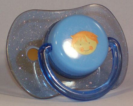 "<div style=""display: none;"">8814</div> sparkley blue, litle boy, dummy Pacifier NUK teat"