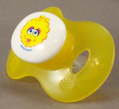 "<div style=""display: none;"">8820</div> sesame street  baby big bird yellow dummy Pacifier NUK teat"