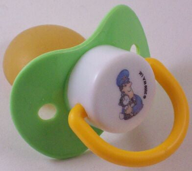 "<div style=""display: none;"">8776</div> green postman pat & jess dummy Pacifier NUK teat"