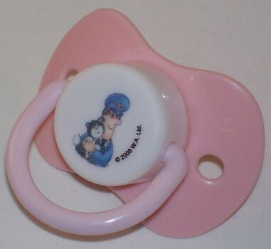 "<div style=""display: none;"">8778</div> light pink postman pat & jess dummy Pacifier"