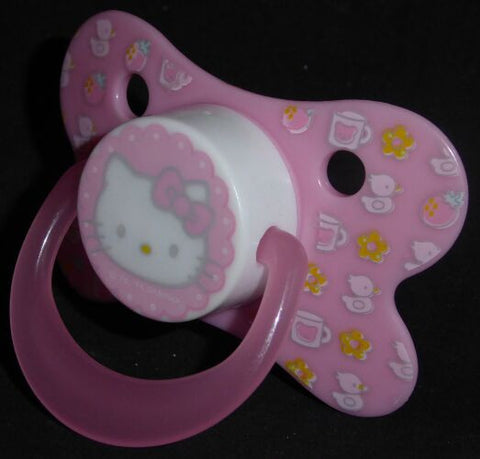 "<div style=""display: none;"">9300</div> pink & decorated hello kitty dummy with Nuk teat"