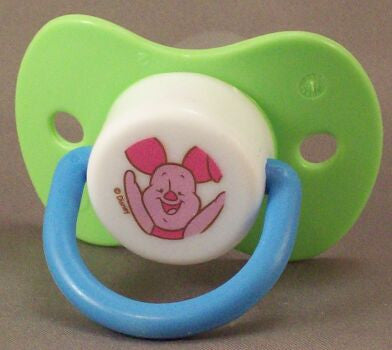 "<div style=""display: none;"">9090</div> green dummy Pacifier DISNEY Piglet NUK teat"