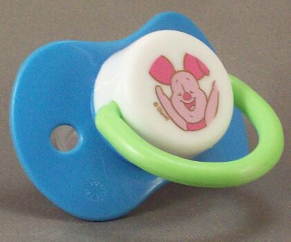 "<div style=""display: none;"">9092</div> blue dummy Pacifier DISNEY Piglet NUK teat"