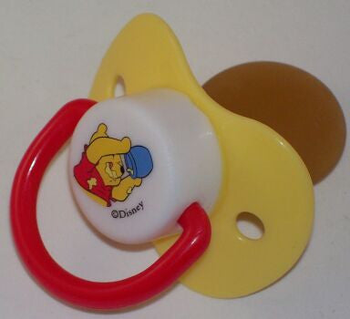 "<div style=""display: none;"">9134</div> yellow dummy Pacifier DISNEY winnie poo NUK"