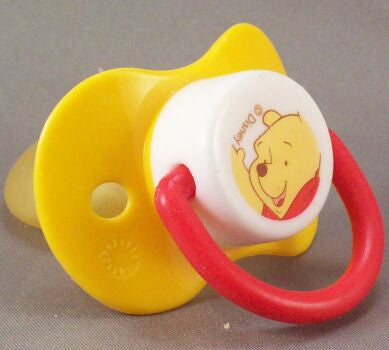 "<div style=""display: none;"">9138</div> yellow dummy Pacifier DISNEY winnie poo NUK"