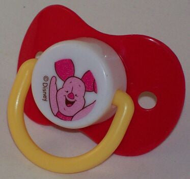 "<div style=""display: none;"">9094</div> red dummy Pacifier DISNEY Piglet NUK teat"