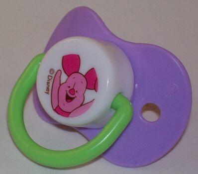 "<div style=""display: none;"">9096</div> purple dummy Pacifier DISNEY Piglet NUK teat"