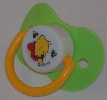 "<div style=""display: none;"">9132</div> Green dummy Pacifier DISNEY winnie poo NUK"