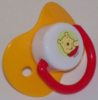 "<div style=""display: none;"">9140</div> yellow dummy Pacifier DISNEY winnie poo NUK"