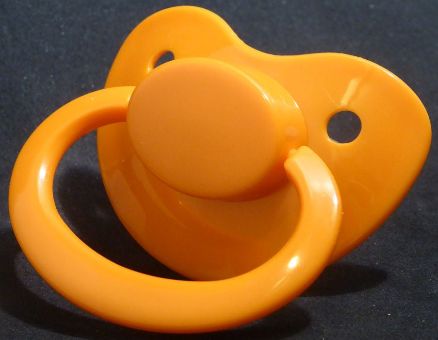 "<div style=""display: none;"">9605</div>9605 Orange Adult Sized Shield,  Pacifier, with Latex or Silicon teat"