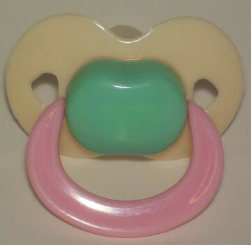 "<div style=""display: none;"">9572</div> three colour  Pacifier, Dummy, Soother, modified with nuk 4 or 5 teat"