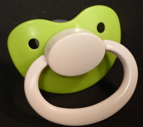 "<div style=""display: none;"">9610</div>9610 Green with white Adult Sized Shield,  Pacifier, with Latex or Silicon teat"