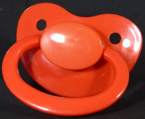 "<div style=""display: none;"">9611</div>9611 Red Adult Sized Shield,  Pacifier, with Latex or Silicon teat"