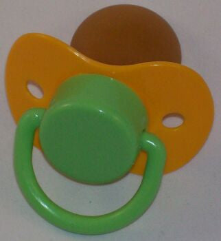 "<div style=""display: none;"">9600</div> yellow & green dummy Pacifier NUK teat"