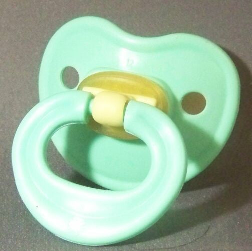 "<div style=""display: none;"">9684</div> Blue/green coloured ?NUK Style? Pacifier, Dummy, Soother, modified with nuk 4 or 5 teat"