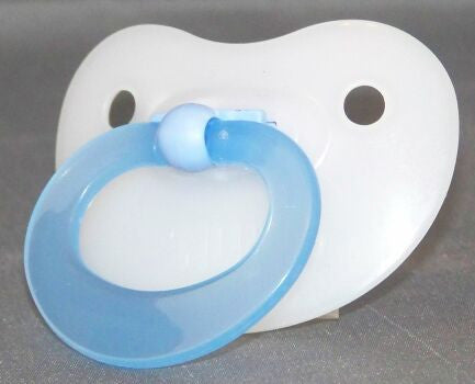 "<div style=""display: none;"">9842</div>  Translucent Blue Handle NUK 4/5 Adult Baby, Pacifier, Dummy, Soother,"