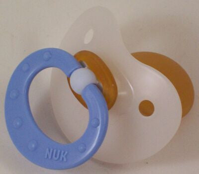 "<div style=""display: none;"">9846</div> Mid Blue Handle NUK 4/5 Adult Baby, Pacifier, Dummy, Soother,"