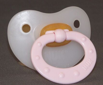"<div style=""display: none;"">9864</div> Pink Handle NUK 4/5 Adult Baby, Pacifier, Dummy, Soother,"