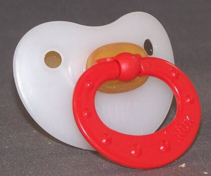 "<div style=""display: none;"">9872</div> Red Handle NUK 4/5 Adult Baby, Pacifier, Dummy, Soother,"