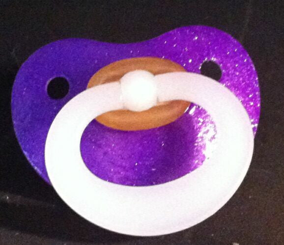 "<div style=""display: none;"">9984</div> NUK Pacifier hand decorated in PURPLE"