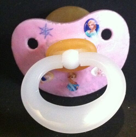 "<div style=""display: none;"">9934</div> NUK pacifier hand decorated with Disney Frozen Characters"