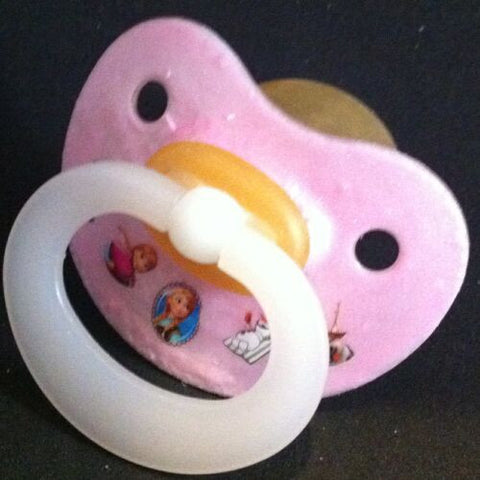 "<div style=""display: none;"">9932</div> NUK pacifier hand decorated with Disney Frozen Characters"