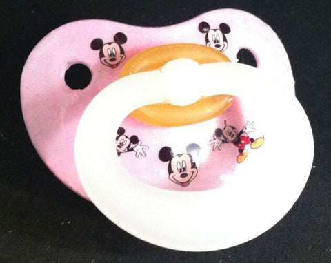 "<div style=""display: none;"">9958</div> NUK pacifier hand decorated with Disney Micky Mouse Characters"