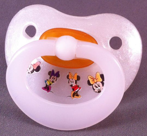 "<div style=""display: none;"">9956</div> NUK pacifier hand decorated with Disney Minnie Mouse Characters"