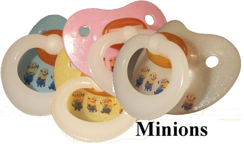 "<div style=""display: none;"">9968</div> NUK pacifier hand decorated with Minions  Characters"