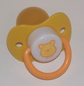 "<div style=""display: none;"">9142</div> yellow dummy Pacifier DISNEY winnie poo NUK"