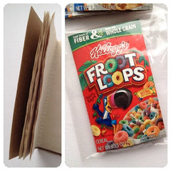 Cereal box book cover