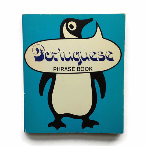 Portuguese Phrase Book - Penguin Books - 1973 Paperback - Square Blue Vintage Foreign Language Book