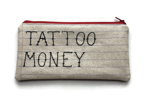 Tattoo  Money Bag - Cute Tattoo Font - Flat Rectangle Style - Ready to Ship