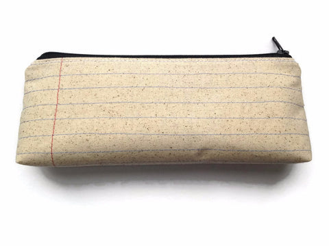 Blank Notebook Paper Fabric Zipper Pouch Pencil Case