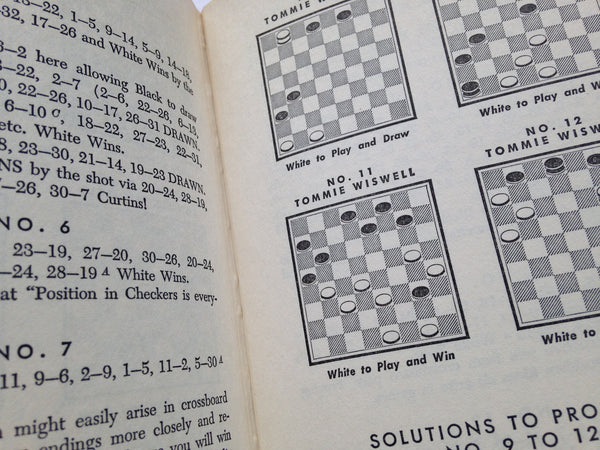 Learn Checkers Fast - Vintage Hardcover Book - 1958 Publication - Dustcover