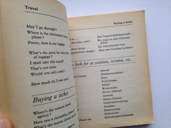 German Phrase Book - Penguin Books - 1975 Paperback