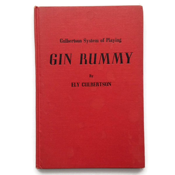 Gin Rummy - Culbertson System of Playing - Hardcover Vintage Book - How To Play - 1945 - Good Condition