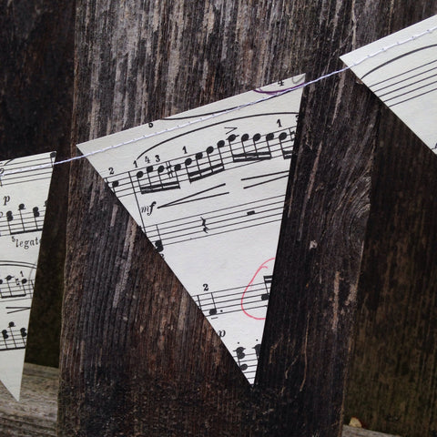 "Small 3"" Vintage Sheet Music Banner"